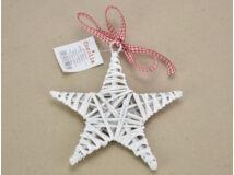 Fonott csillag fehér 15cm