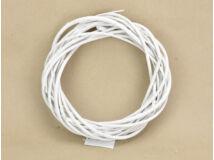Vessző koszorú fehér 20cm 60/#