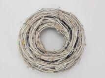 Koszorú 25cm fehér antik 24/#