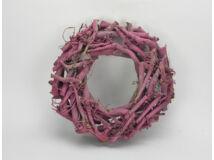 Rőzsekoszorú pink 30cm