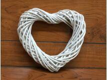Vesssző szív fehér 25cm