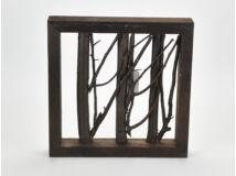 Ágas keret dekoráció barna 30*30*5cm