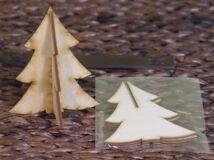 Natúr fa - 3D fenyő 8,5x10,5cm