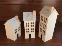Fa házikók 3db/szett