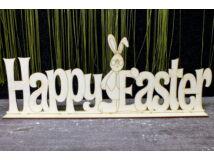 """Natúr fa - """"Happy Easter"""" talpas tábla 15x40cm"""