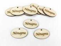 """Natúr fa - """"Nőnapra"""" ovál tábla 4cm 10db/csomag"""