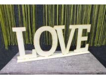 Love felirat talppal