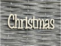 "Natúr fa ""Christmas"" felirat fehér"