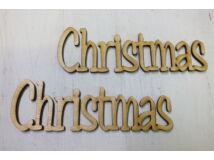 """Natúr fa - """"Christmas"""" írott felirat 2db/csomag"""
