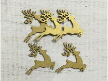 Fa szarvas ugró arany 7cm 5db/csomag