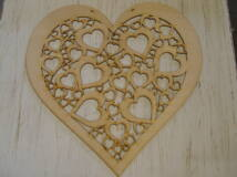 Natúr fa - Áttört szív 40cm