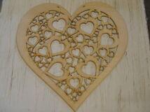 Natúr fa - Áttört szív 70cm
