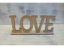 "Natúr fa - ""LOVE"" felirat talppal 25cm"