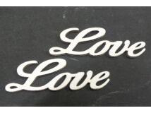 "Fa ""Love"" felirat fehér 8cm 2db/csomag"