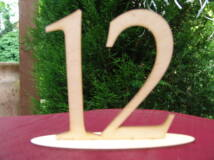 Natúr fa - Asztalszám 12-es 15cm