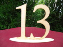 Natúr fa - Asztalszám 13-as 15cm