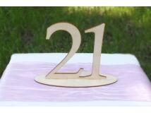 Natúr fa - Asztalszám  21-es 15cm