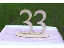 Natúr fa - Asztalszám 33-as 15cm