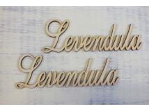 "Natúr fa - ""Levendula"" felirat 15cm 2db/csomag"
