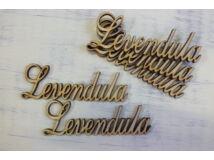 "Natúr fa - ""Levendula"" felirat 9,5cm 5db/csomag"