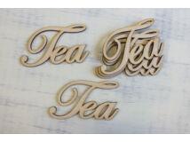 "Natúr fa - ""Tea"" felirat  5x9cm 5db/csomag"