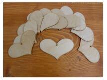 Natúr fa - Szív romantik 6x9cm 10db/csomag