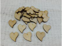Natúr fa - Francia szív 3cm 30db/csomag