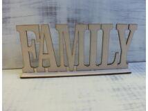 Fa family felirat talppal 25cm