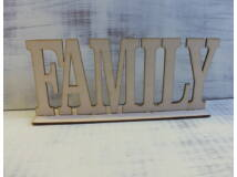 Natúr fa - Family felirat talppal 25cm