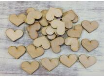 Natúr fa - Romantik szív 3cm 30db/csomag