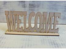 """Natúr fa - """"Welcome"""" tábla talpas 25cm"""