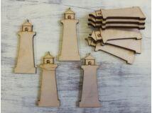 Natúr fa - Világító torony 6cm 10db/csomag