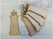 Natúr fa - Világítótorony 9cm 5db/csomag