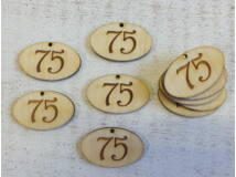 Natúr fa - Évfordulós gravírozott ovál táblák 10db/csomag