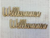 "Natúr fa - ""Wilkommen"" felirat 15cm 2db/csomag"