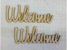 Welcome felirat 15cm 2db/csomag