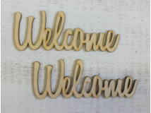 "Natúr fa - ""Welcome"" felirat 15cm 2db/csomag"
