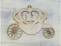 Natúr esküvői hintó 17cm