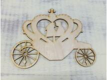 Natúr fa - Esküvői hintó 17cm