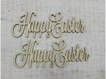 """Happy Easter"" felirat 15cm 2db/csomag"
