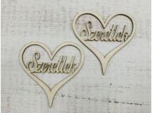 """""""Szeretlek"""" felirat szívben 2db/csomag"""