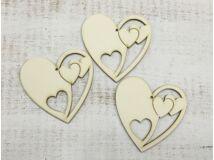 Szív a szívben 10cm 3db/csomag