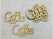 "Natúr fa - ""Coffee"" felirat 9cm 5db/csomag"