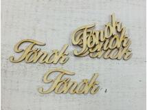 "Natúr fa - ""Főnök"" felirat 10cm 5db/csomag"