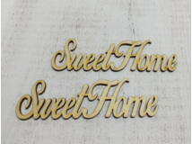 "Natúr fa - ""Sweet Home"" felirat 2db/csomag"