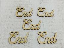 "Natúr fa - ""End"" felirat 5cm 5db/csomag"