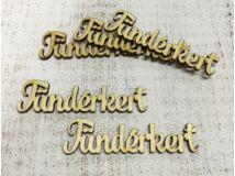 """Natúr fa - """"Tündérkert"""" felirat 10cm 5db/csomag"""