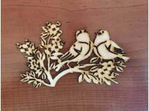 Natúr fa énekes madarak 15cm