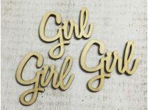 """Natúr fa felirat """"Girl"""" 3db/csomag"""