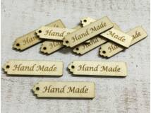 "Natúr fa ""Hand Made"" scrapbook tábla 10db/csomag"